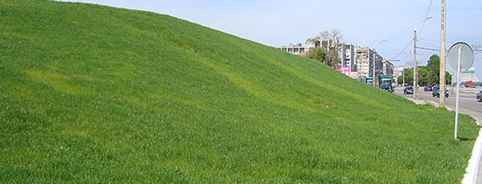 Ландшафт с газоном Формирующий склоны: